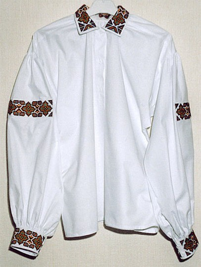 Image - An embroidered shirt from the Boiko region.