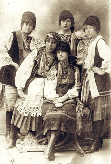Image - The Boikos: young women in Stryi (1922 photo).