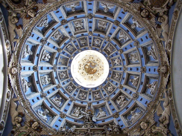 Image - The Boim Chapel in Lviv: cupola with sculptures by Jan Pfister.