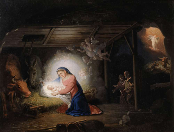 Image - Volodymyr Borovykovsky: The Nativity of Jesus.