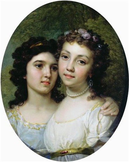 Image - Volodymyr Borovykovsky: Liza and Dasha (1794).