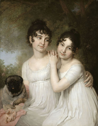 Image - Volodymyr Borovykovsky: Portrait of Countesses Elena and Aleksandra Kurakina (1802, Louvre, Paris).