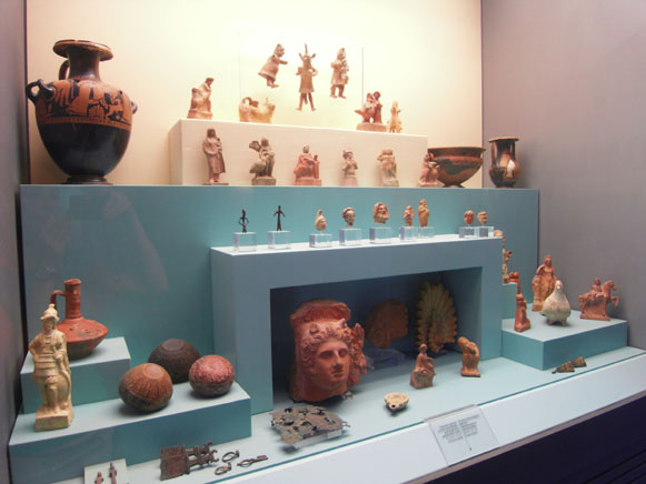 Image - An ancient Bosporan Kingdom exhibit at the Odesa Archeological Museum.