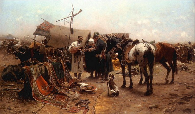 Image -- Jozef Brandt: A fair in Balta.