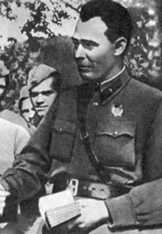 Image - Leonid Brezhnev as political commissar in the Soviet Army (1942).