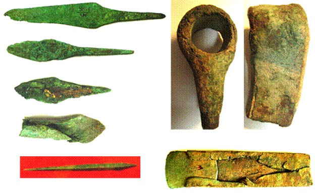 Image - Bronze objects from the Pit-Grave culture.