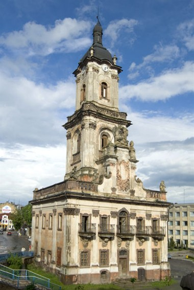 Image - Buchach town hall (1751) built by the architect Bernard Meretyn and decorated by the sculptor Johann Pinzel.