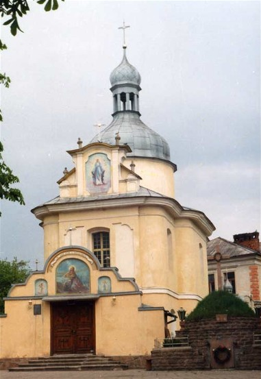 Image - Buchach: Church of the Theotokos (1764) designed by Bernard Meretyn.