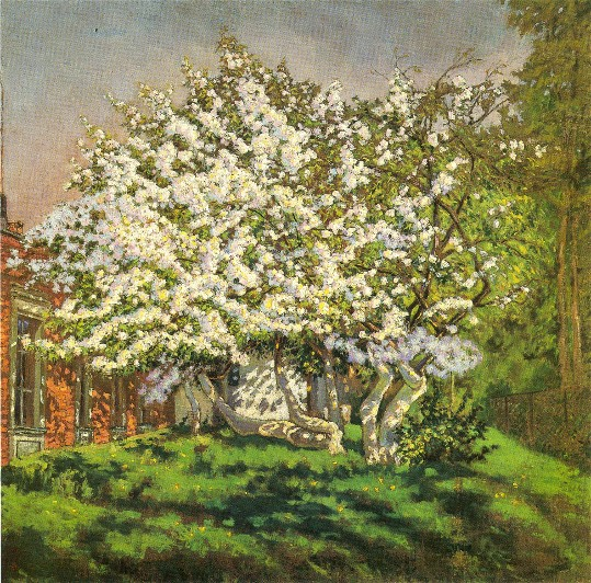 Image - Mykola Burachek: Apple Tree in Bloom (1938).