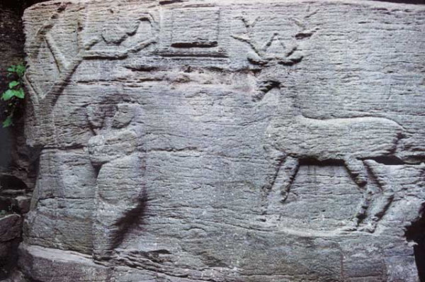 Image - A bas-relief in the pagan temple in the Busha Historical and Cultural Reserve.