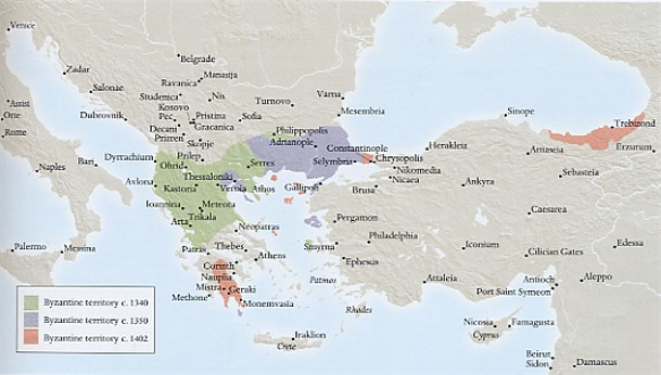 Image - Map of the Byzantine Empire.