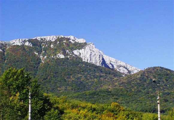 Image - The view of Chatyr-Dag in the Crimean Mountains.