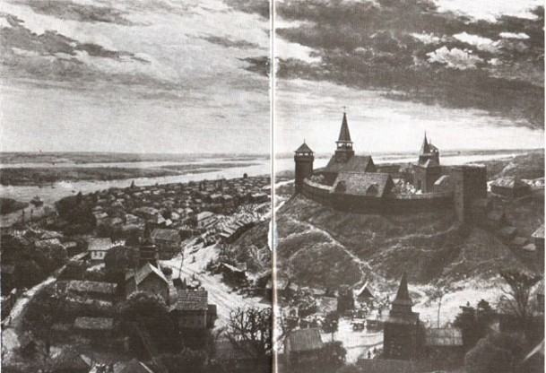 Image - A reconstruction of old town of Cherkasy (in the Cherkasy Oblast Regional Studies Museum).