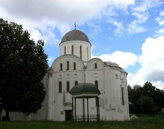 Image -- The SS Borys and Hlib Cathedral (12th century) in Chernihiv.