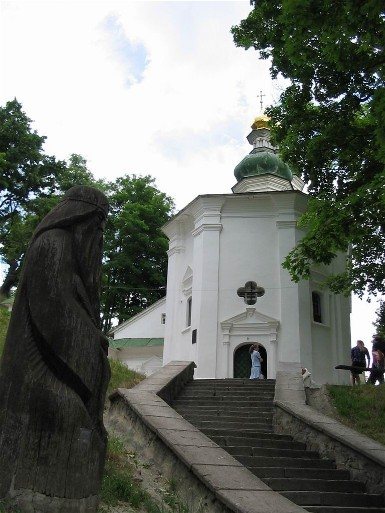 Image - Saint Elijah's Church (late 12th-century) at the Trinity-Saint Elijah's Monastery in Chernihiv.