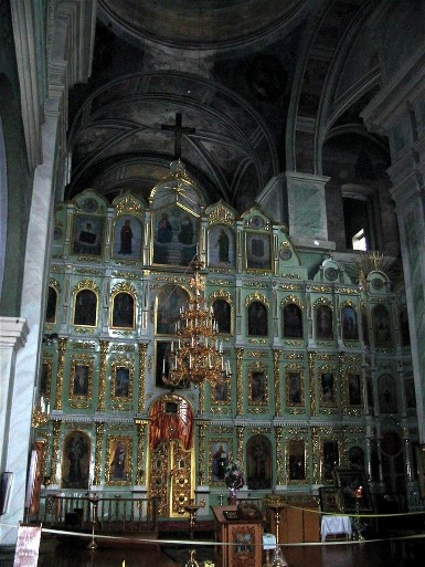 Image - The iconostasis of the Trinity Cathedral (1679-95) at the Trinity-Saint Elijah's Monastery in Chernihiv.