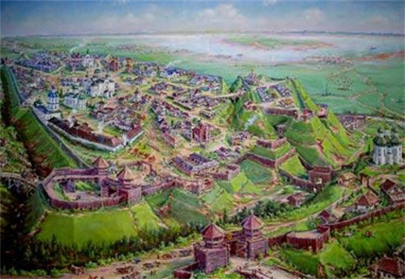 Image -- Chernihiv during the medieval times of Kyivan Rus' (model).