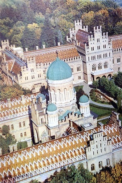 Image - Aerial view of the main buildings of the Chernivtsi university.
