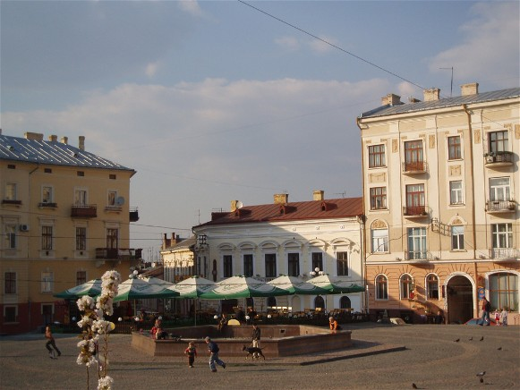Image - The Philharmonic Square in Chernivtsi.
