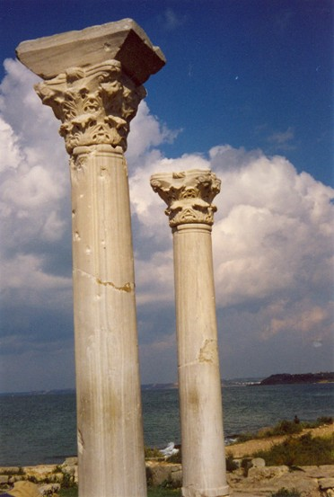Image - The columns of the basilica in Chersonese Taurica near Sevastopol in the Crimea.