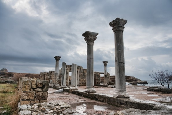 Image - The ruins of the basilica in Chersonese Taurica near Sevastopol in the Crimea.