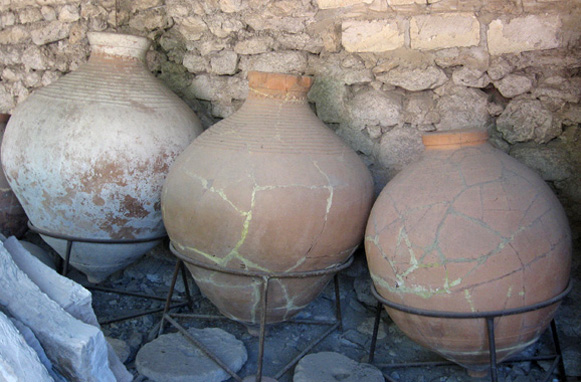 Image - Clay jars from Chersonese Taurica (in the Khersones Tavriiskyi National Preserve museum).