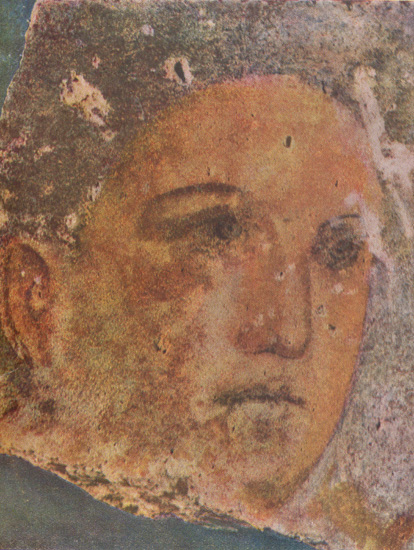A fresco of a young man (4th century BC) from Chersonese Taurica.