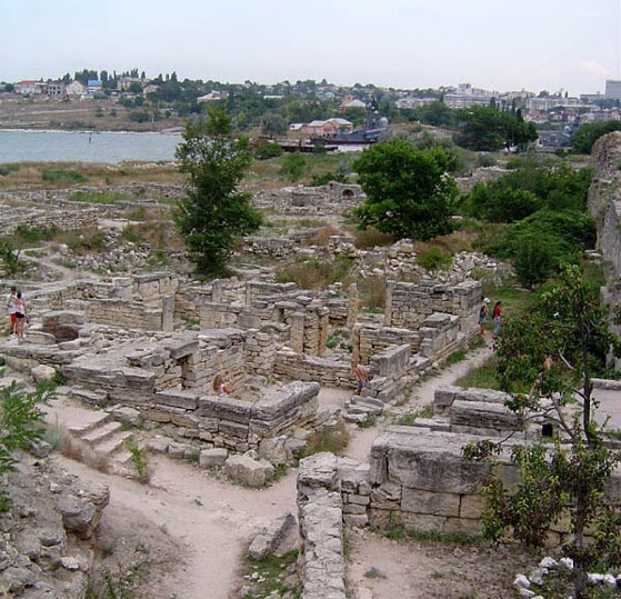 The ruins of Chersonese Taurica near Sevastopol in the Crimea.