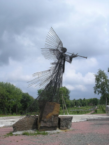 Image -- Chornobyl: Archangel with Trumpet monument.