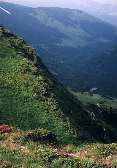Image -- Dzebroni Peak in the Chornohora (Carpathians).