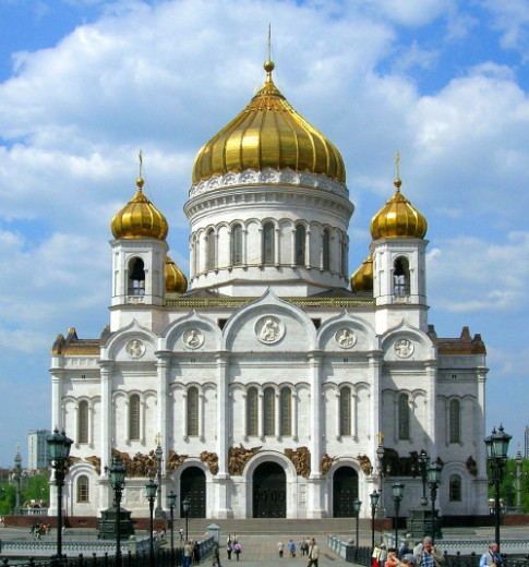 Image - The Russian Orthodox Cathedral of Christ the Savior in Moscow.