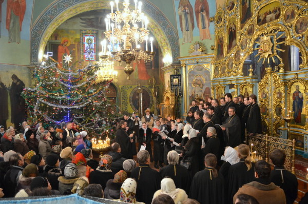 Image - Christmas Liturgy celebration in Vynnytsia.