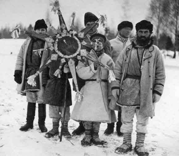 Image - Christmas carolers in Podilia (1930s).