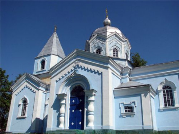 Image - Chudniv, Zhytomyr oblast: Church of the Nativity of the Mother of God (1772).