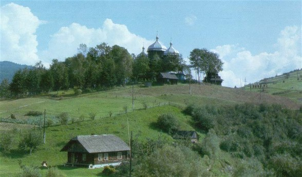 Image - A church in the Carpathian foothills in Transcarpathia oblast.