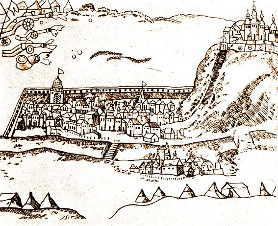 Image - View of Chyhyryn on a 1678 engraving.