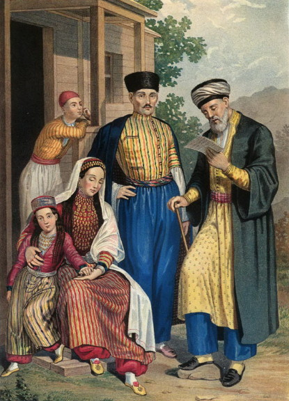 Image - Crimean Tatars (painting by G.F. Pauli, mid 19th century).