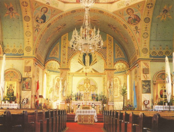 Image - Interior of the Church of the Resurrection in Dauphin, Manitoba (decorated by Theodore Baran).