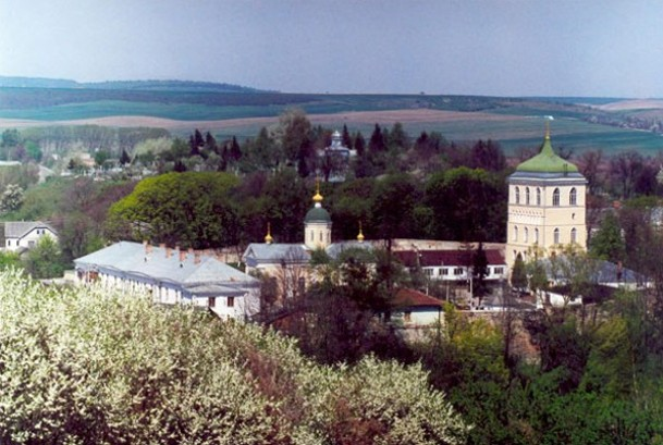 Image - A panorama of the Derman Monastery in Rivne oblast.
