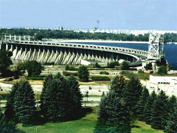 Image -- Dnipro Hydroelectric Station near Zaporizhia.