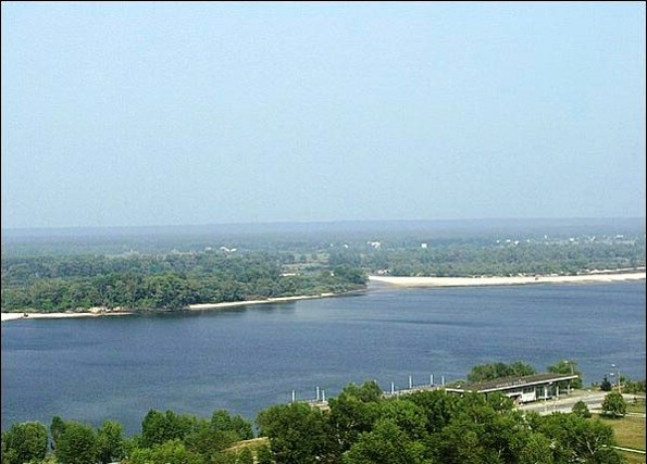 Image -- The Dnieper River near Kaniv.