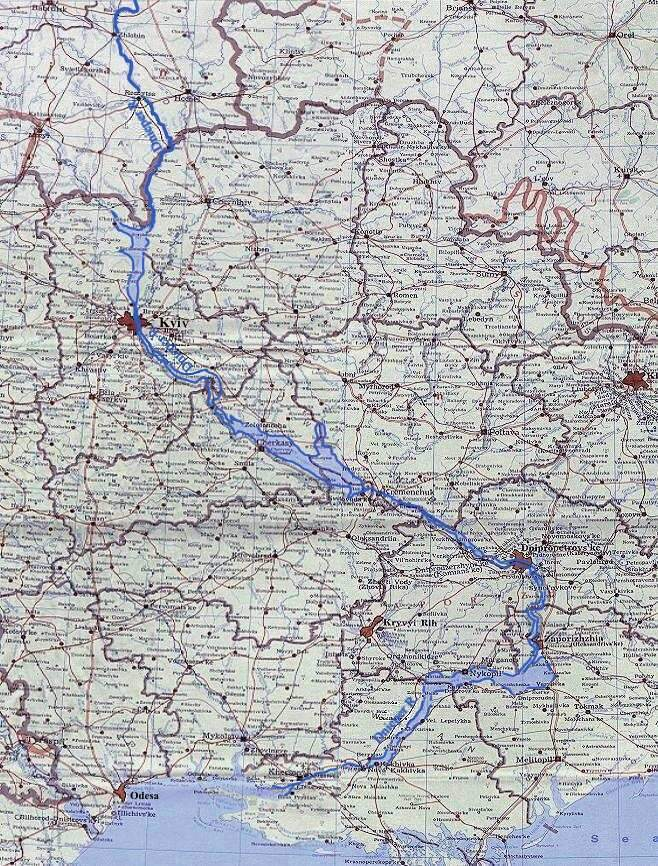 Image -- Map of Dnieper River