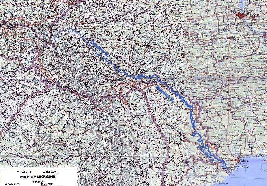 Image - Map of Dniester River