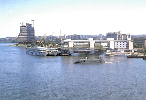 Image -- A river port on the Dnipro River in the city of Dnipro.