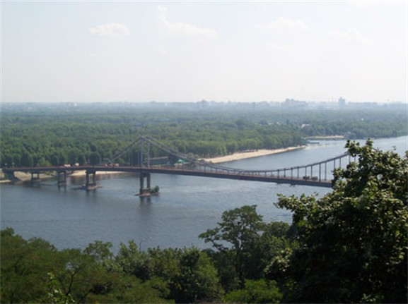Image -- The Dnipro River in Kyiv.