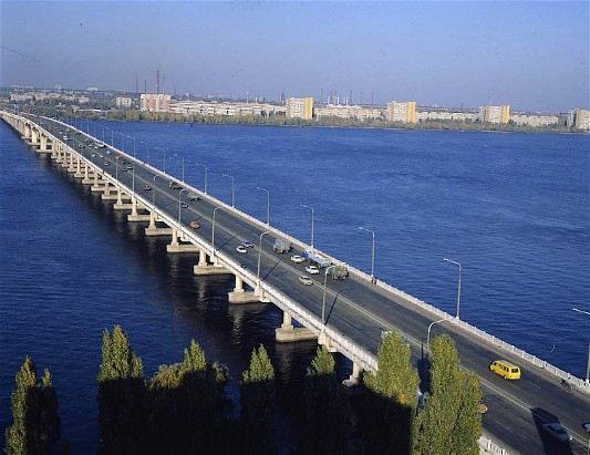 Image - Dnipro: A bridge over the Dnipro River.