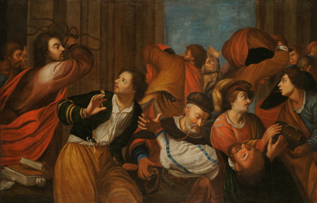 Image - Luka Dolynsky: Expulsion of Merchants from the Temple (in the collection of the National Museum in Lviv).