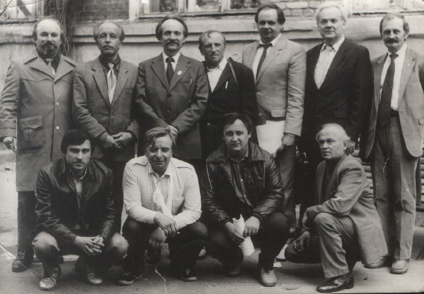 Image - Viacheslav Chornovil with members of the Donetsk branch of Ukrainian Helsinki Association (1989).