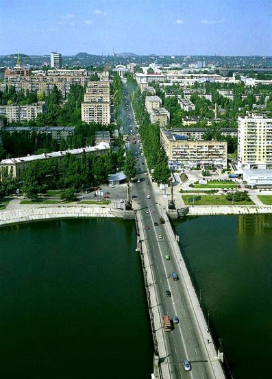 Image - Donetsk: bridge over the Kalmius River.