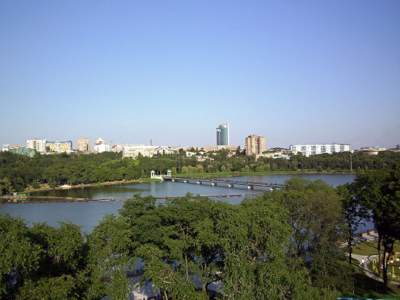 Image - A view of Donetsk from the Shcherbakov Park.